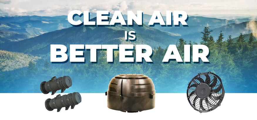 Clean air header